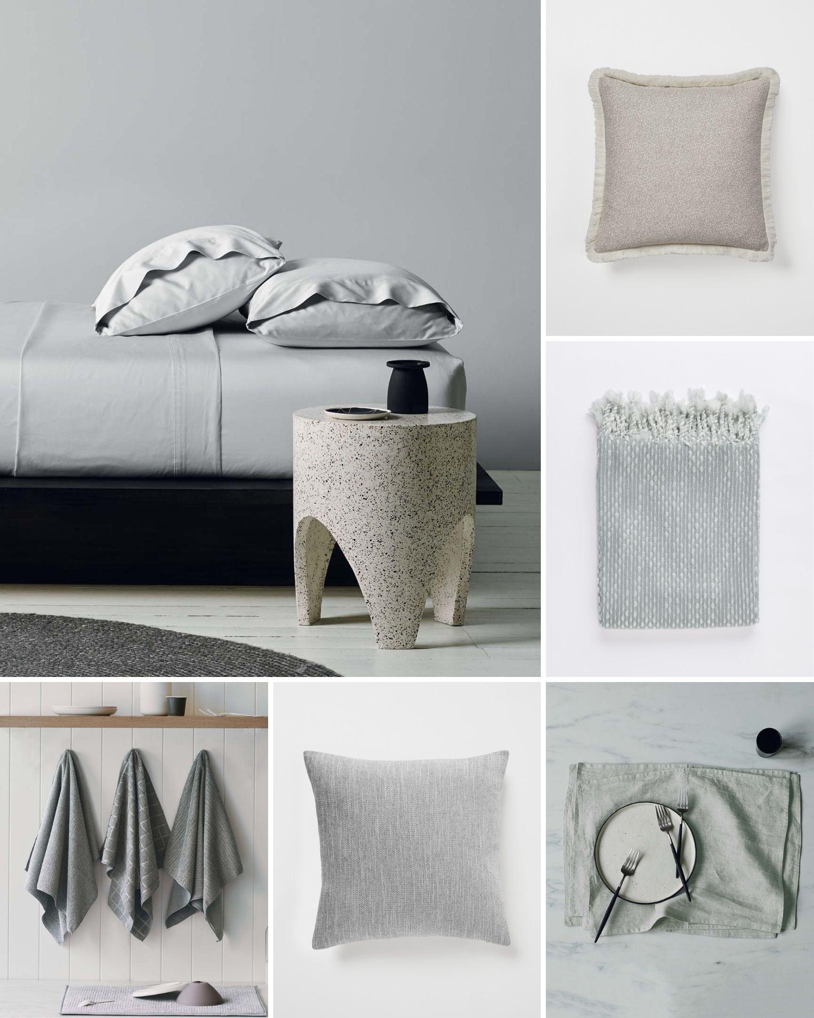 light grey neutral interior decorating mood board lorraine lea