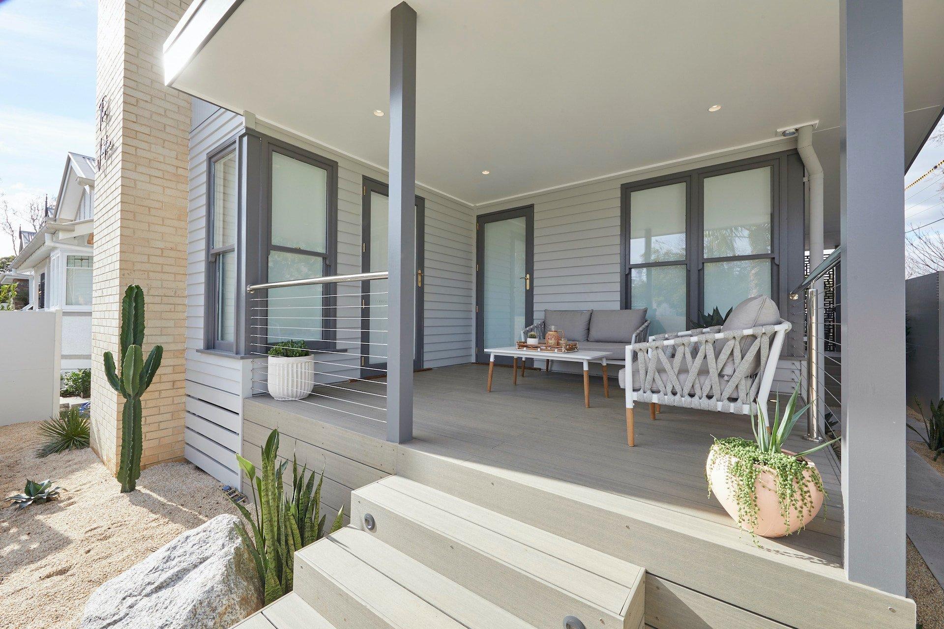 the block 2020 jimmy and tam front yard verandah outdoor furniture