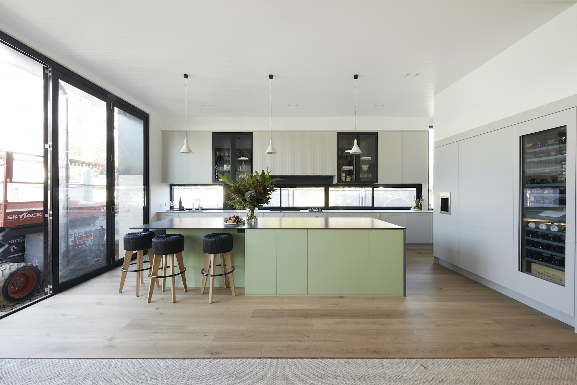 the block 2020 kitchens jimmy and tam mint green cabinets