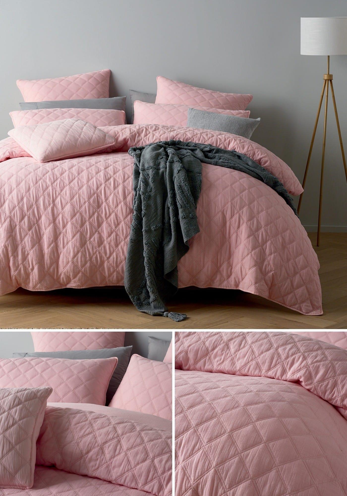 lorraine lea austin quilt cover set pink stitch bedding summer quilt covers