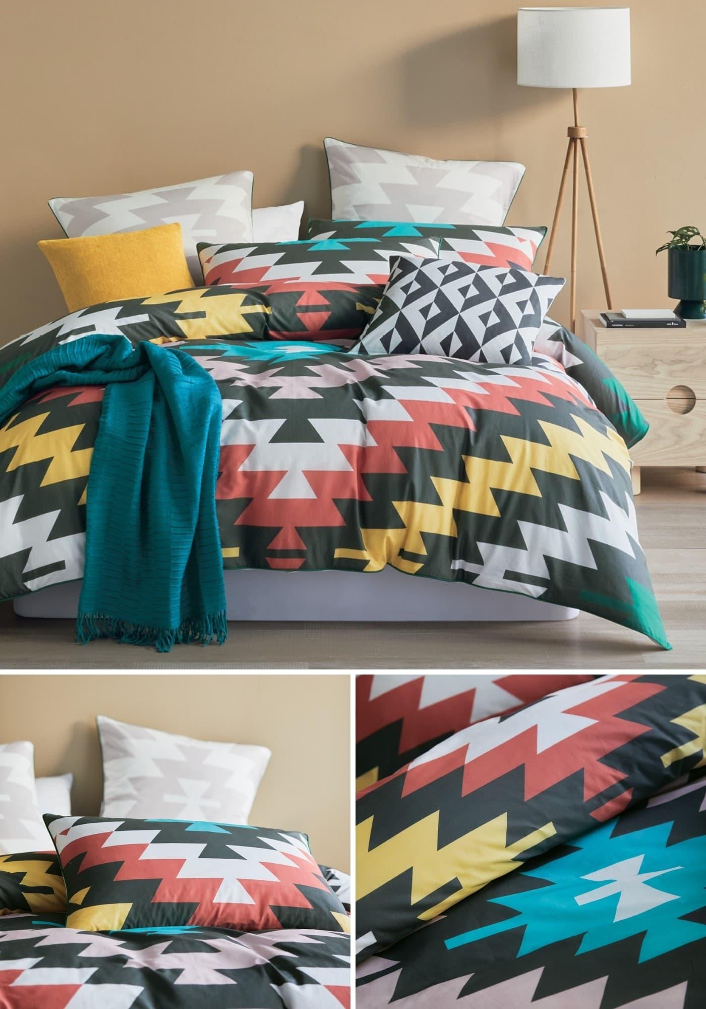 lorraine lea axel summer quilt cover set aztec bedspread