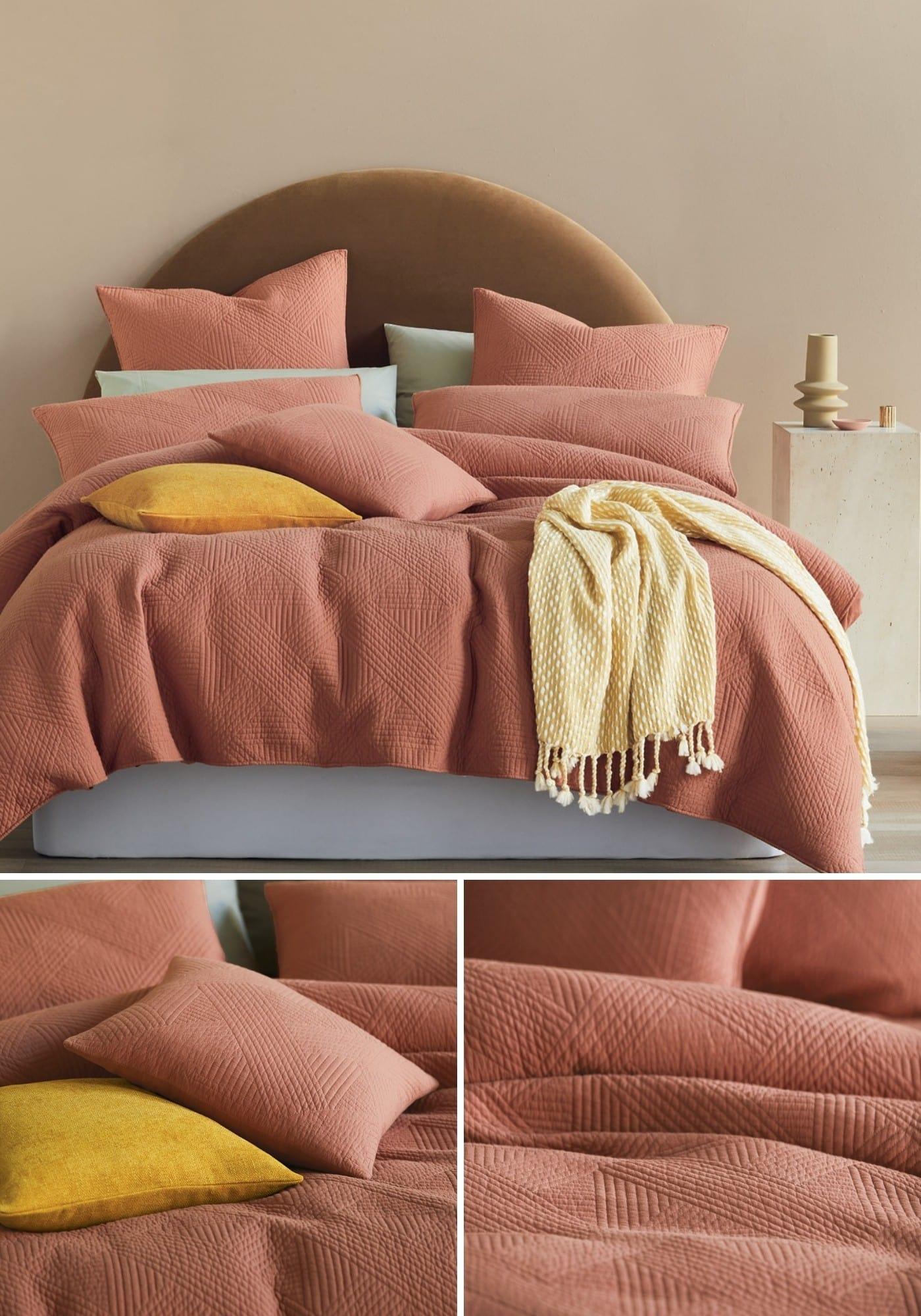 lorraine lea edmonton orange quilt cover set summer bedding