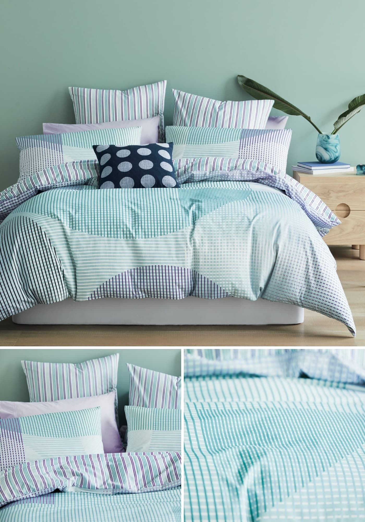 lorraine lea lena white and turquoise quilt cover set summer bedding trends