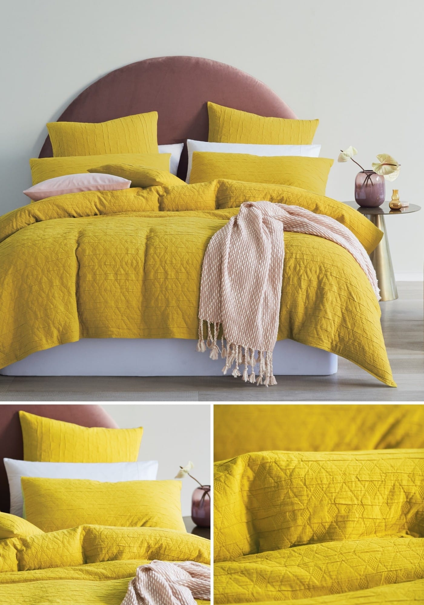 mimosa lorraine lea yellow quilt cover set summer bedding