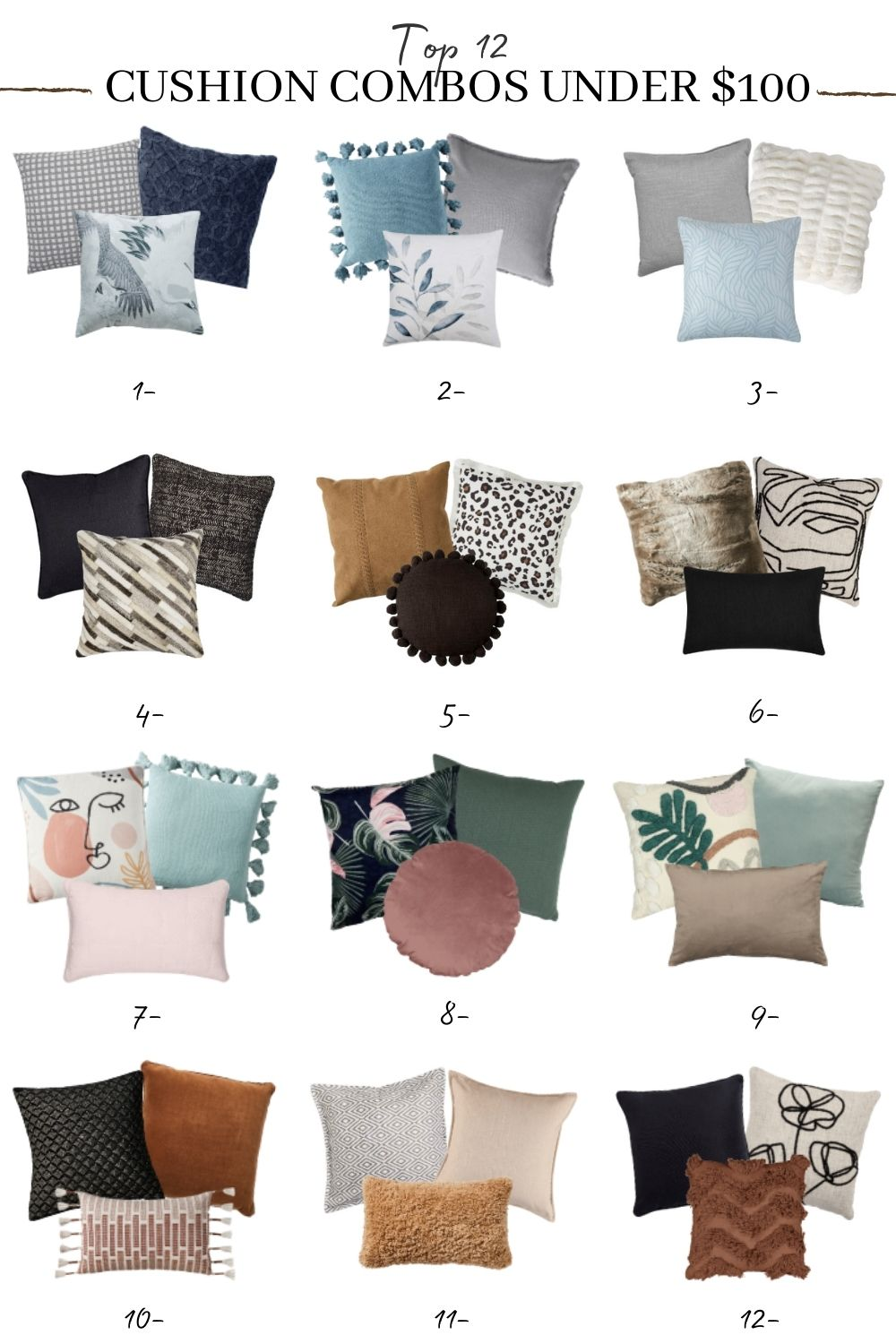 10 Foolproof Cushion Combinations for your Sofa   TLC Interiors