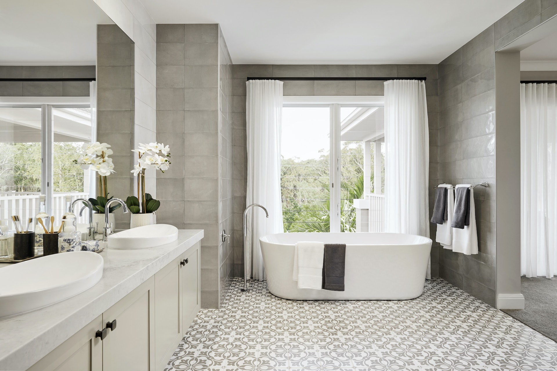 grey gloss bathroom wall tiles with patterned bathroom floor tiles provincial style