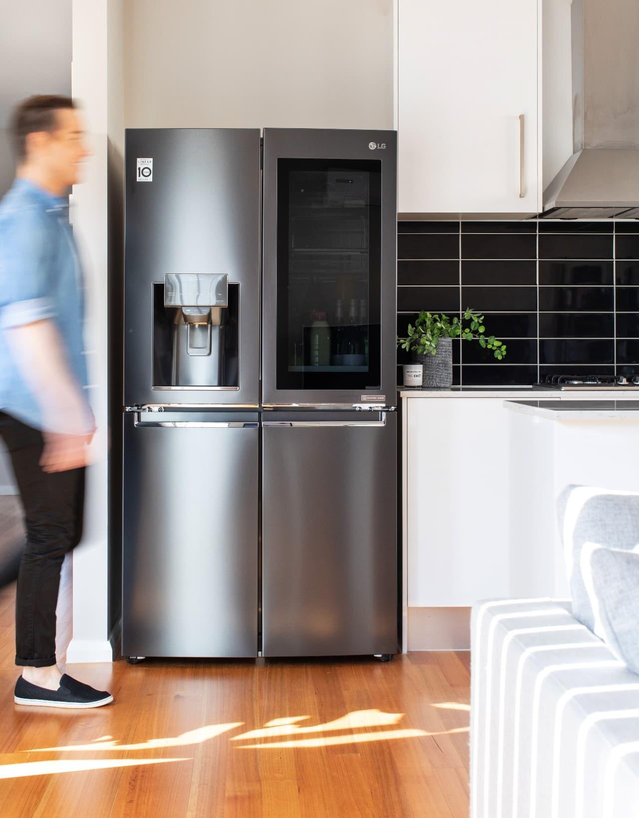 chris carroll tlc interiors review of lg door in door instaview fridge