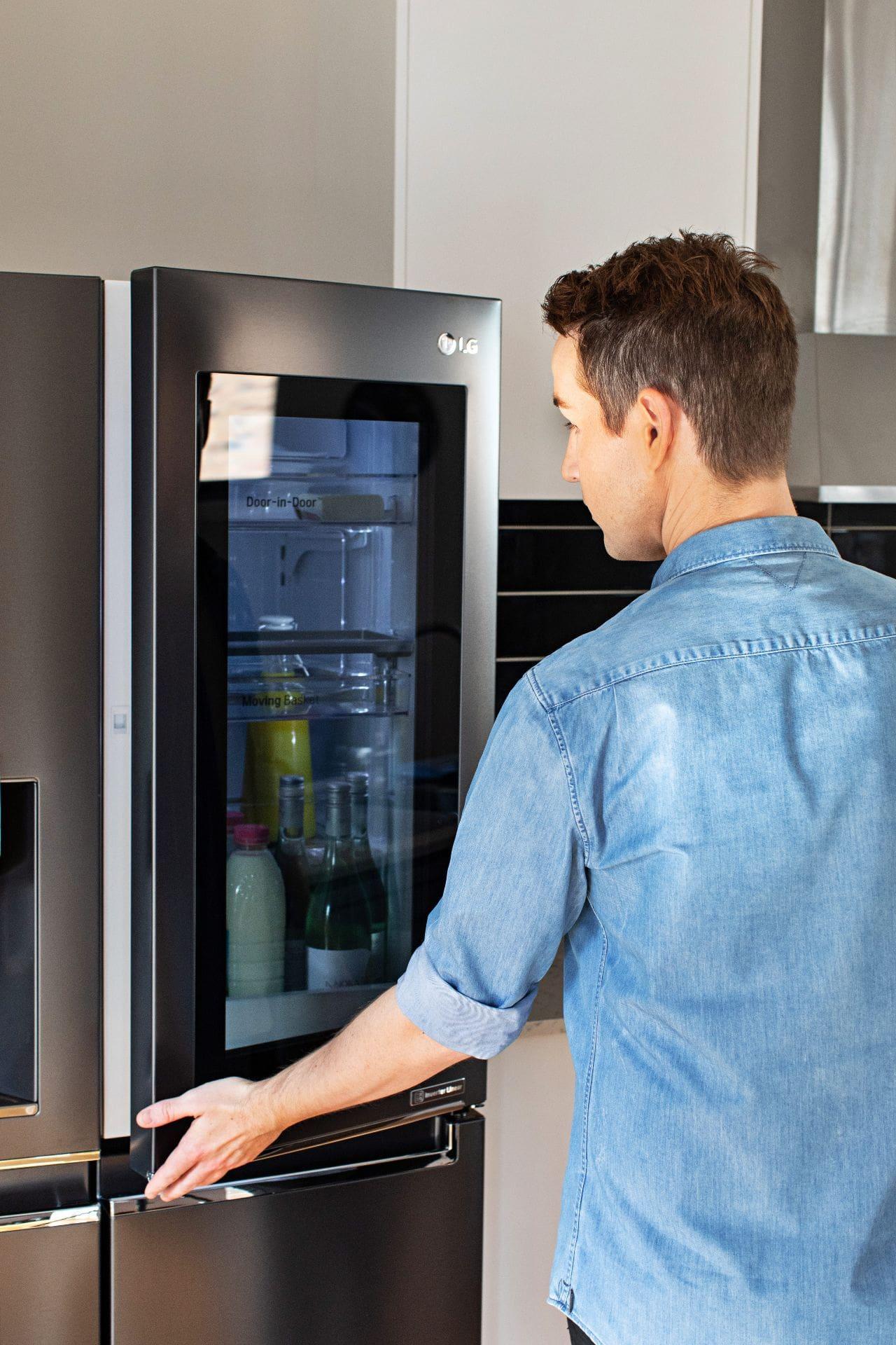 designer chris carroll tlc interiors review lg instaview door in door fridge
