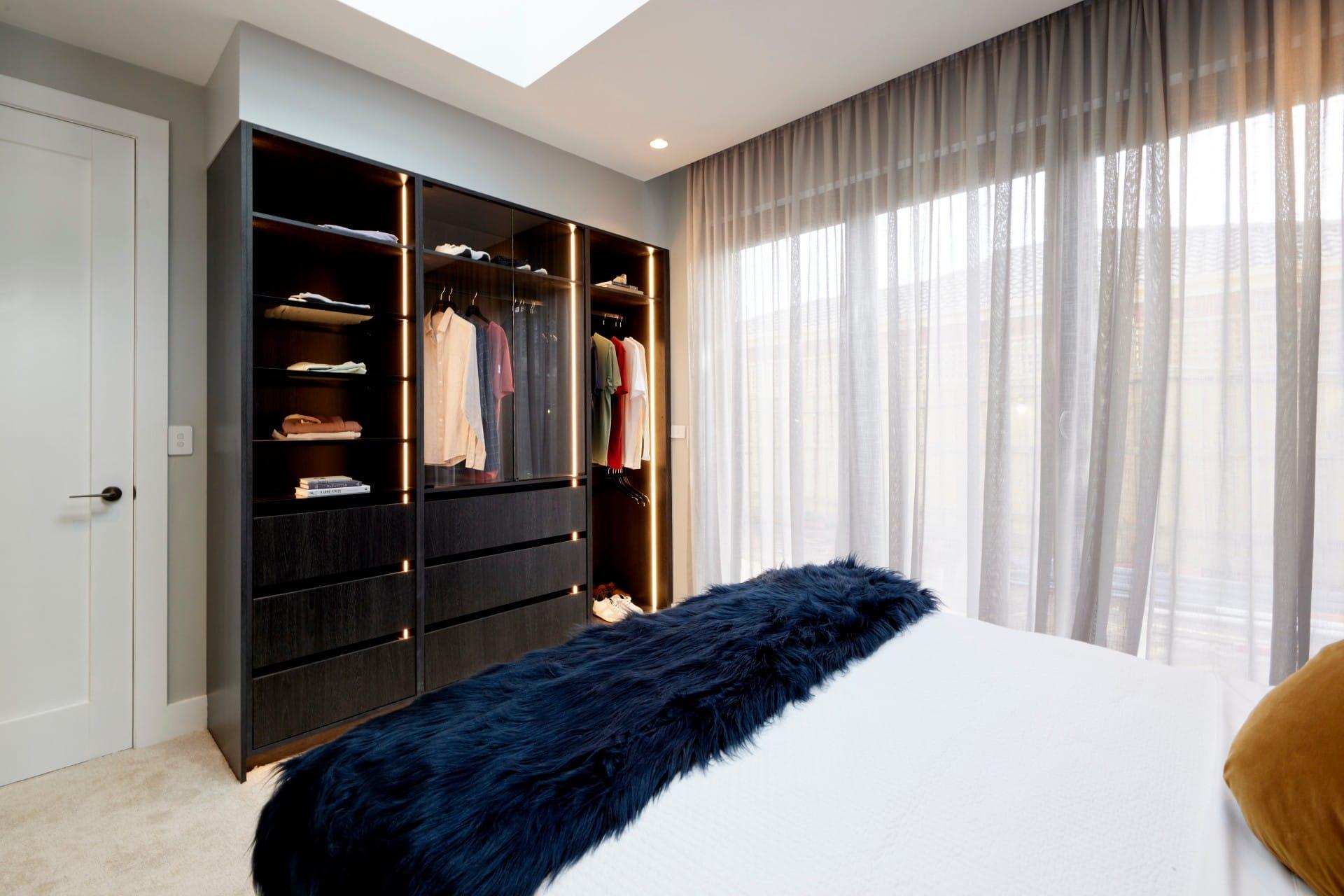 the block 2021 josh and luke guest bedroom wardrobe