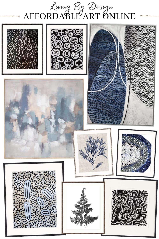 affordable art online australia living by design hamptons style blue artworks