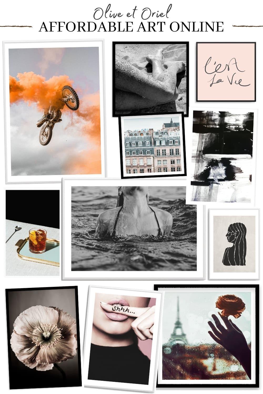 affordable art online australia olive et oriel black and white fashion prints