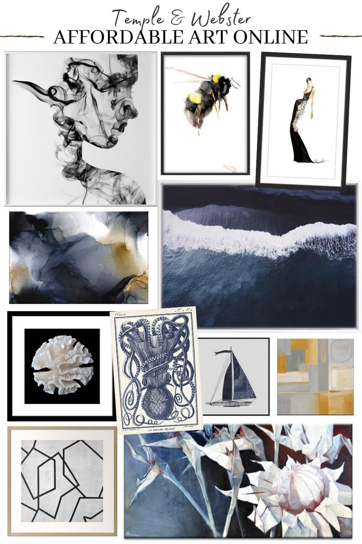 affordable art online australia temple and webster print art