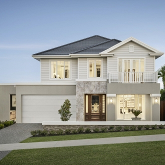 hamptons provincial home design facade metricon homes