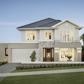hamptons provincial home design facade metricon homes