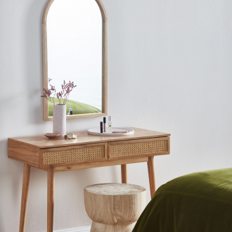 light oak arched mirror bohemian decor ideas temple and webster