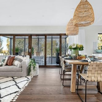 open plan living dining room metricon homes